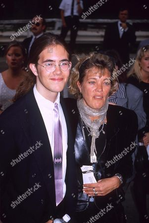 BERRY PERKINS WITH SON ELVIS ( WIDOW OF ANTHONY PERKINS )