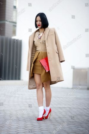 Tiffany Hsu, buyer for Lane Crawford Hong Kong. London Street Style Fashion. head-to-toe JW Anderson.