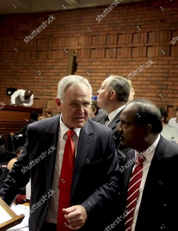 Editorial picture of Oscar Pistorius charged with murder of Reeva Steenkamp, Pretoria, South Africa - 20 Feb 2013