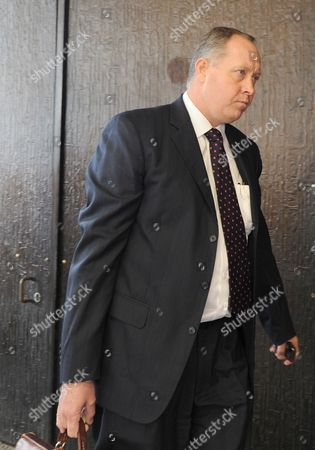 A member of Oscar Pistorius's legal team, Advocate Kenny Oldwage arrives at the Pretoria Magistrate Court