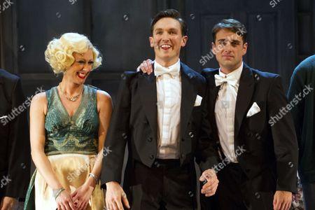Faye Tozer (Marion Davies), Dylan Turner (William Haines) and Bradley Clarkson (Jimmy Shields)