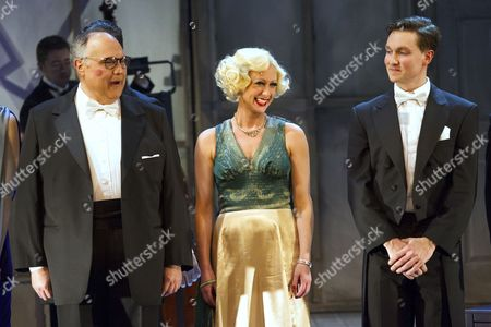 Mike McShane (Louis B Mayer), Faye Tozer (Marion Davies) and Dylan Turner (William Haines)