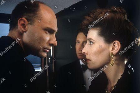 Stock Photo of Stephan Grothgar, Charles Dance and Phyllis Logan