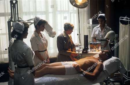 Unknown, Ivana Lowell, Freda Dowie, unknown and Charles Dance