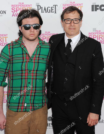 Stock Picture of David O Russell (r) and son Matthew Antonio Grillo Russell