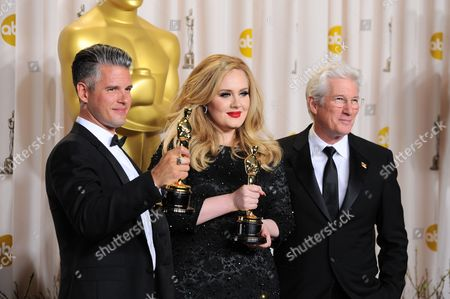 Adele, Paul Epworth and Richard Gere