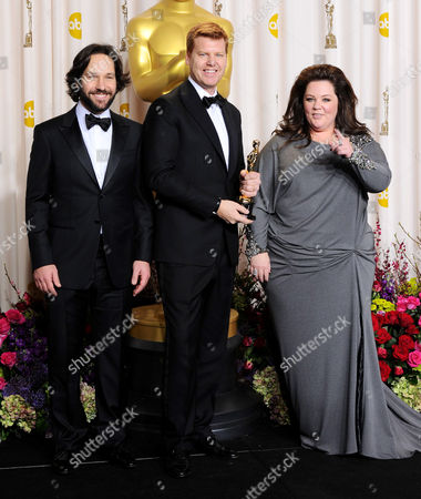 Stock Picture of Paul Rudd, John Kahrs and Melissa McCarthy