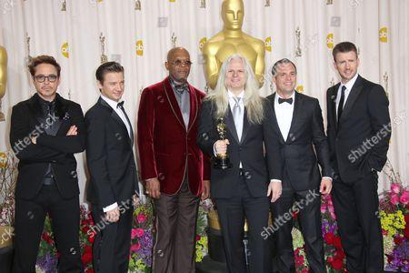 Robert Downey Jr., Jeremy Renner, Samuel L Jackson, Claudio Miranda, Mark Ruffalo and Chris Evans