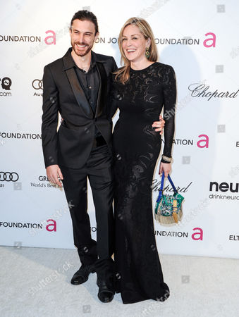 Stock Photo of Martin Mica and Sharon Stone