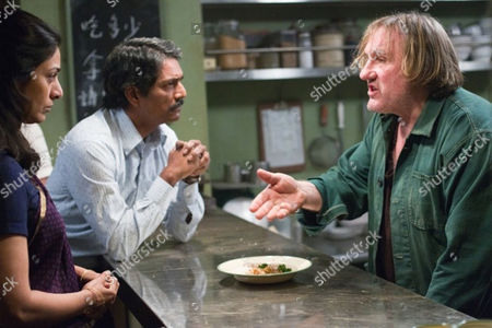 Stock Photo of Life Of Pi - Adil Hussain, Tabu and Gerard Depardieu