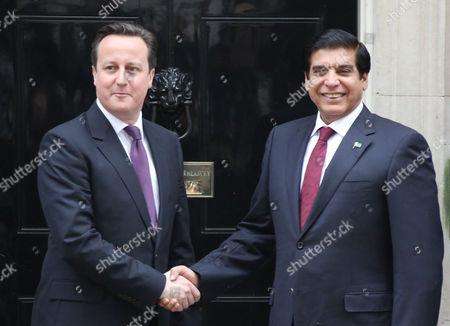 Prime Minister David Cameron and Prime Minister of Pakistan Yousuf Raza Gilani