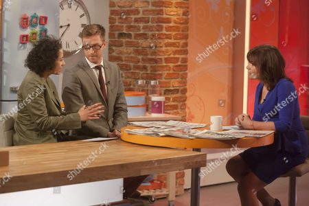 Samira Ahmed and Olly Kendall with Presenter Lorraine Kelly