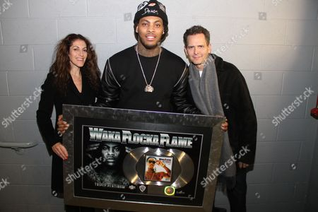 Julie Greenwald, Waka Flocka and Craig Kallman