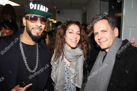 Swizz Beatz, Julie Greenwald and Craig Kallman
