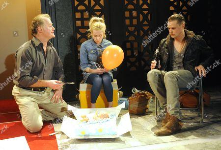 Owen Teale as Jan, Sinead Matthews as Marysia, Max Bennett as Piotr