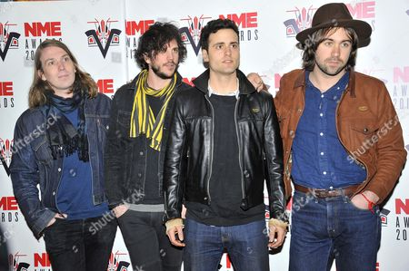 Arni Hjorvar, Pete Robertson, Justin Young and Freddie Cowan - The Vaccines