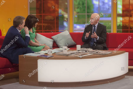 Presenters Aled Jones and Lorraine Kelly with Sir Philip Hampton