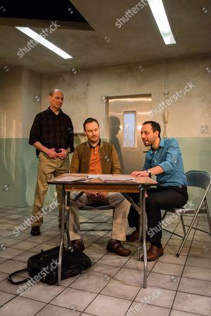 'Fact' - Michael Feast (Yossi), Paul Rattray (Danny) and Philip Arditti (Khalid).