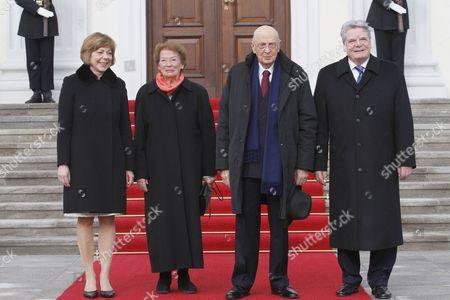 Daniela Schadt, Clio Bittoni, Italian President Giorgio Napolitano and President of Germany Joachim Gauck