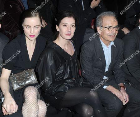 Melissa George, Marie-Agnes Gillot and Nina Ricci CEO Ralph Toledano