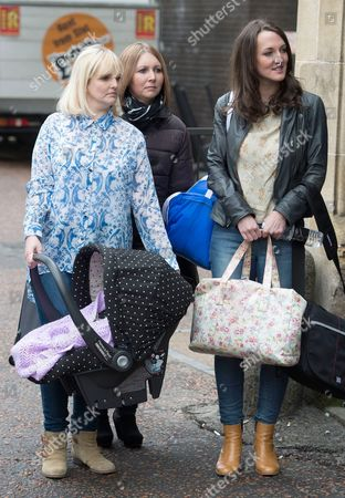 Katy Slade, sister Lucy Marks and sister in-law Jamie Allan