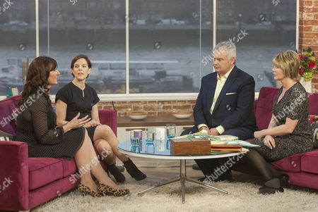 Lucy Cavendish and Pamela Druckerman and Eamonn Holmes and Ruth Langsford