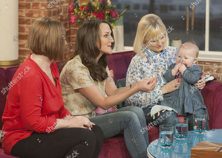Katy Slade, sister Lucy Marks who donated the egg and sister-in-law, Jamie Allan, who carried the baby Beatrix for 9 months.