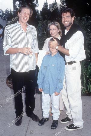 Pierce Brosnan with wife Cassandra Harris and son Sean