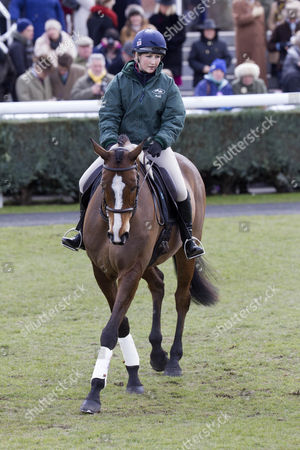 Kauto Star, ridden by Laura Collett, performs dressage