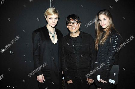 Jessica Stam, Kuho Jung and Solene Hebert