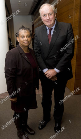 Doreen Lawrence And Paul Dacre Editor Of The Daily Mail. The Criminal Justice Lecture At Freshfields Bruckhaus Llp Northcliffe Auditorium. 20.2.12