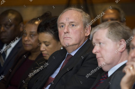 L-r: Garth Crooks Obe Doreen Lawrence Baroness Scotland Of Asthal Paul Dacre And Lord Blair Of Boughton. The Criminal Justice Lecture At Freshfields Bruckhaus Llp Northcliffe Auditorium. 20.2.12