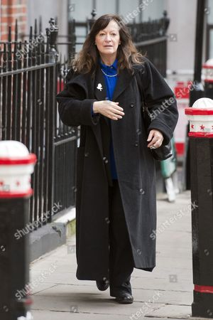 Sharon Shoesmith Former Head Of Haringey Social Services Arriving At Employment Appeals Tribunal Where Two Of Her Former Staff Maria Ward And Gillie Cristou Are Appealing Against Their Dismissal Over Their Handling Of The Baby P Case..21.02.12.