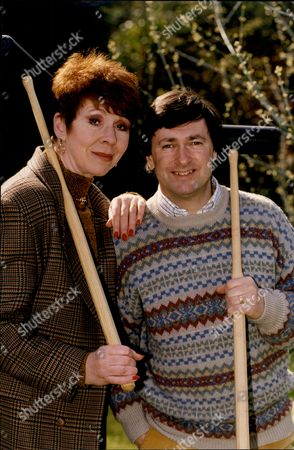 Editorial photo of Alan Titchmarch And Carole Boyd Playing Croquet.
