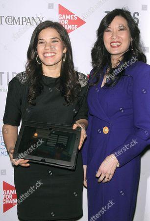 America Ferrera and Sheryl WuDunn