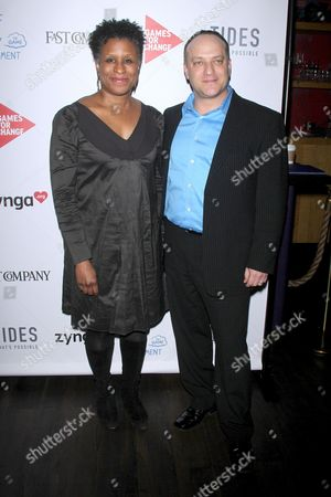 Stock Photo of Michelle Byrd and Asi Burak