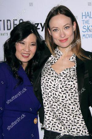 Sheryl WuDunn and Olivia Wilde