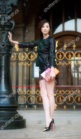Taiwanese · actress Pace Wu, Paris Street Style Fashion.