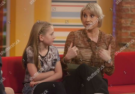 Stock Picture of Louise Cooper and Daughter (Bieber concert)