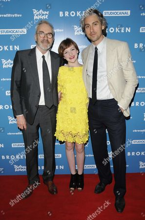 Larry Lamb, Eloise Laurence and George Lamb