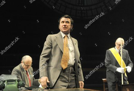 Editorial image of 'This House' play performed at the Olivier Theatre, National Theatre, London, Britain - 28 Feb 2013