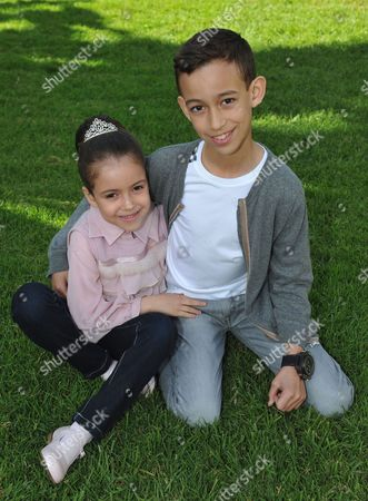 Princess Lalla Khadija of Morocco poses with her brother Crown Prince Moulay Hassan of Morocco