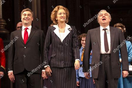 Nathaniel Parker (Gordon Brown), Haydn Gwynne and Richard McCabe (Harold Wilson)