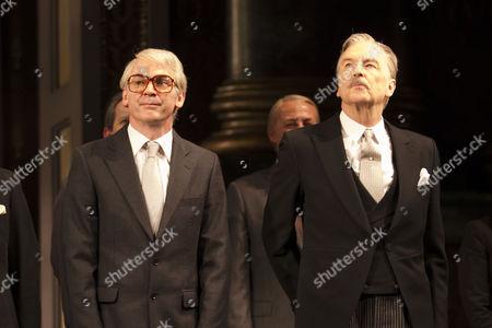 Paul Ritter (John Major) and Michael Elwyn (Anthony Eden)