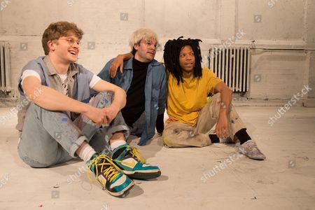 Michael Palmer (Rene Ricard), Adam Riches (Andy Warhol) and Michael Walters (Jean-Michel Basquiat).