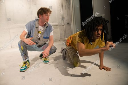 Stock Picture of Adam Riches (Andy Warhol) and Michael Walters (Jean-Michel Basquiat).