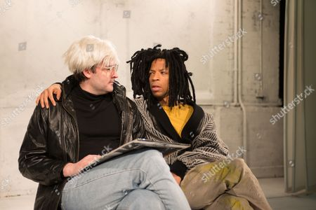 Adam Riches (Andy Warhol) and Michael Walters (Jean-Michel Basquiat).