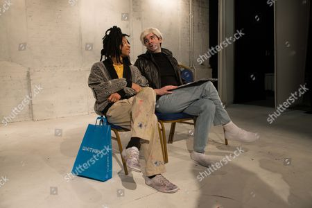 Michael Walters (Jean-Michel Basquiat) and Adam Riches (Andy Warhol).