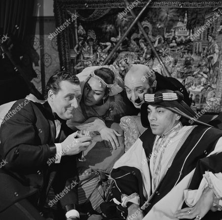 Patrick Macnee, George Pastell and Zia Mohyeddin