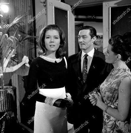 Stock Photo of Diana Rigg, Maurice Kaufmann and Eunice Gayson